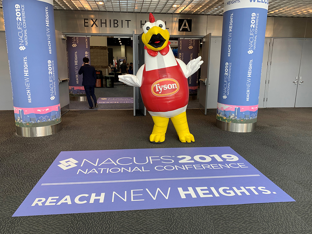 Buddy the Chicken NACUFS 2019 Tyson Foodservice