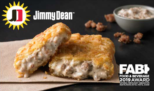 Jimmy Dean® Stuffed Hash Brown Potatoes with Sausage Gravy and Cheese